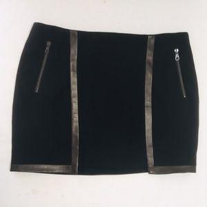rag & bone Women's Black Pencil Mini Skirt 8